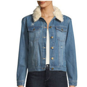 Shearling lined jacket NWT